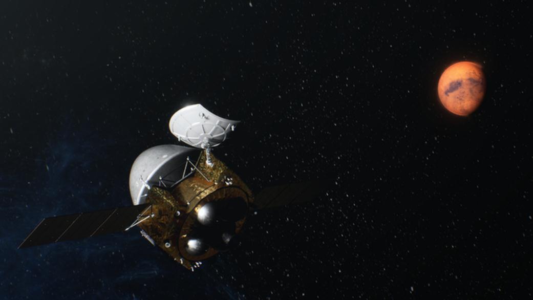 天问一号探测器成功实施近火制动进入火星停泊轨道